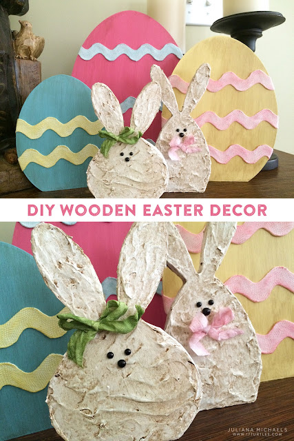 DIY Wooden Easter Decor by Juliana Michaels | 17turtles