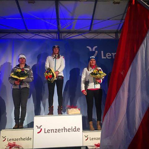Cornelia Hütter Wins Lenzerheide Super G
