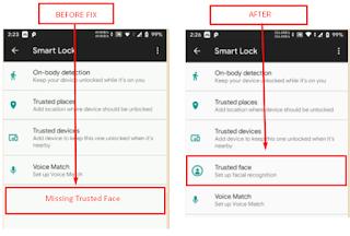 anakinforman.com Cara Mengatasi Hilangnya Fitur Trusted Face Atau Face Unlock Pada Smart Lock Saat Install Custom Rom Android