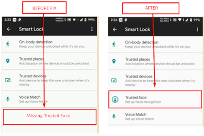 Cara Mengatasi Hilangnya Fitur Trusted Face Atau Face Unlock Pada Smart Lock Saat Install Custom Rom Android