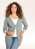 Jachetă lungă tricotată bonprix