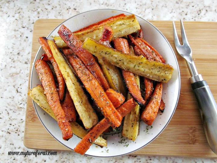 Roasted Carrots And Parsnips With Honey And Balsamic Vinegar Recipe ...