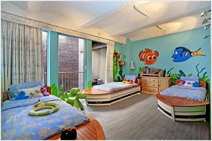 Dormitorios tema disney colores en casa - Habitaciones infantiles disney ...