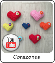 Corazones a crochet