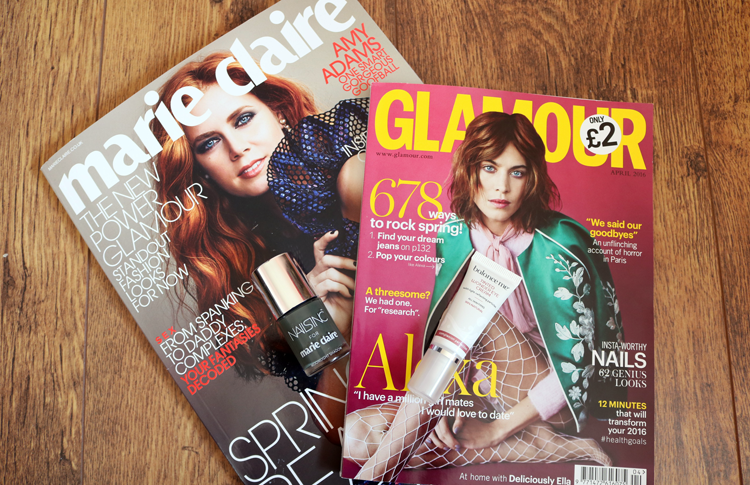 UK Magazine Freebies: Nails Inc with Marie Claire & Balance Me with Glamour (April 2016 editions)