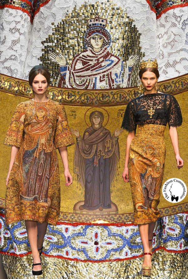 Dolce e Gabbana - Fall Winter 2013 - Madonna (Abside Duomo di Cefalù)