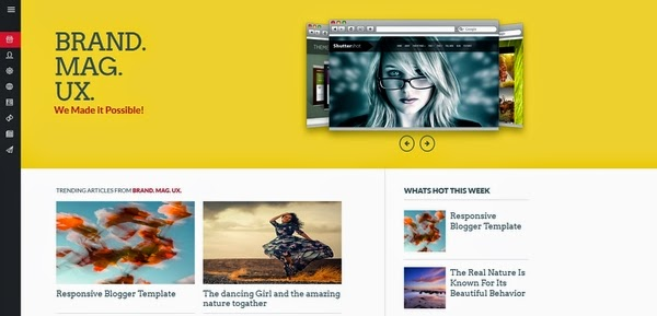brand mag ux  responsive blogger template 2014 for  blogger or blogspot,yellow blogger template 2014,gallery blogger template,3 column blogger template,responsive blogger template 2014