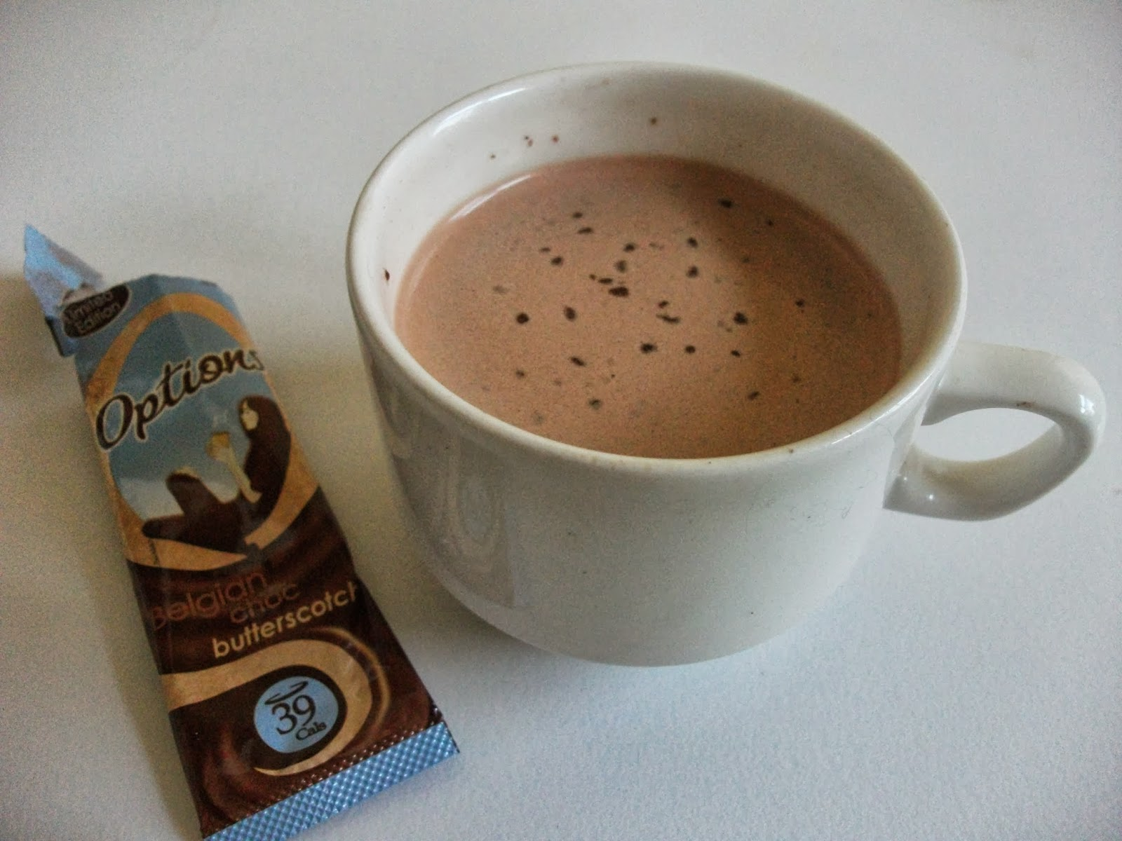 Options Belgian Choc Butterscotch Hot Chocolate Limited