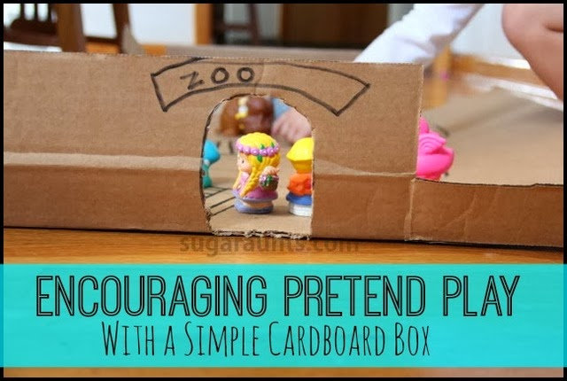 Small World Pretend Play Card Board Box