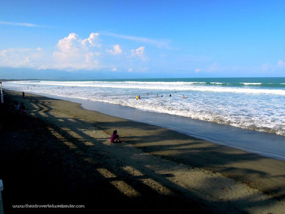 Sabang Beach in Baler