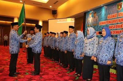 Hamartoni Ahadis Dikukuhkan sebagai Ketua Dewan Pengurus Korpri Provinsi Lampung Masa Bhakti 2019-2024