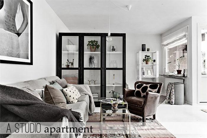 Arredare piccoli spazi] Uno studio di 50 mq - Home Shabby Home ...
