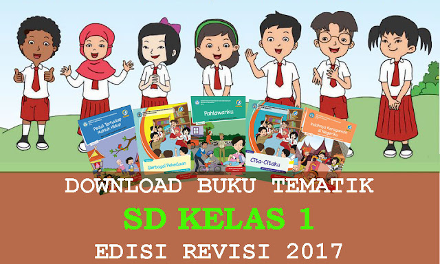 Download Buku Tematik kelas 1 Revisi 2017 Semester 2
