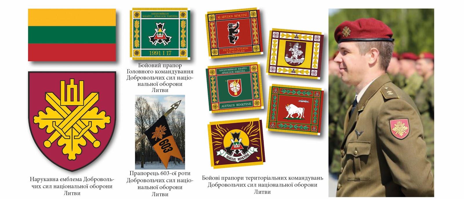 нарукавні емблеми тероборони ЗС Литви