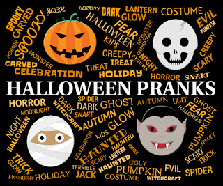 Clipart image of four Halloween images