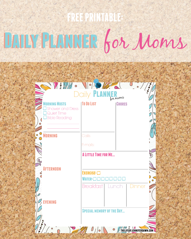 picture relating to Mom Planner Printable referred to as The Lifetime of Jennifer Sunrise: Printable: Each day Planner Web site for