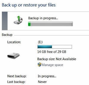 back up and restore files guide