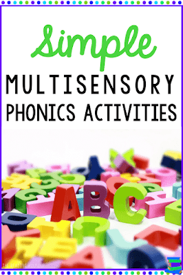 Reluctant readers and students with dyslexia can greatly benefit from multisensory phonics activities. Check out these simple strategies you can easily implement with your students!