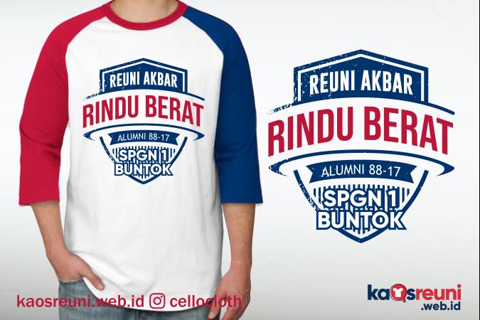 Desain Kaos Reuni Akbar Rindu Berat Alumni 88 - Kaos Reun