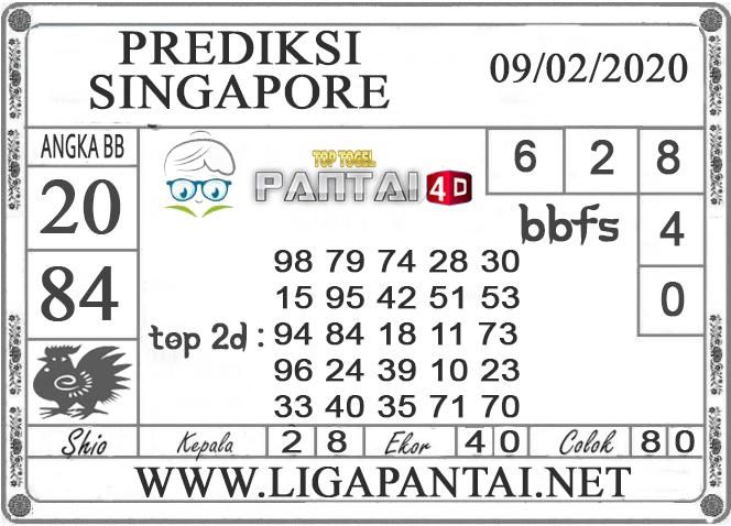 PREDIKSI TOGEL SINGAPORE PANTAI4D 09 FEBRUARI 2020