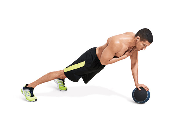 Best Chest Exercises of All Time - 30 Exercise - One Armed Medicine Ball Push Up