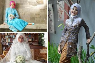 Aneka Baju Kebaya Modern Muslimah Untuk Akad Nikah