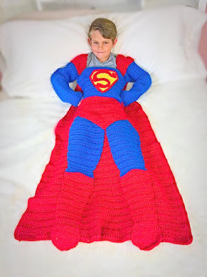 Crochet afghan superman