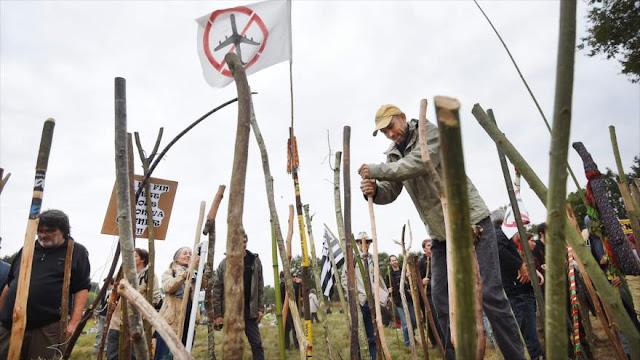 Ambientalistas protestan contra proyecto de aeropuerto en Francia