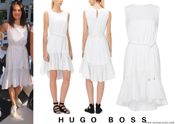 Princess Sofia wore Hugo Boss Kaleva Sleeveless Dress
