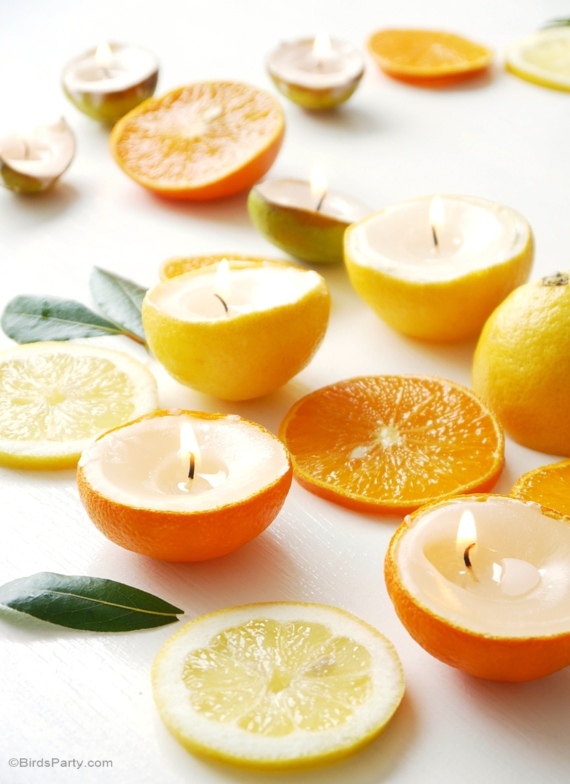 Diy Candles Diy Quick Easy Citrus Candles Party Ideas Party Printables