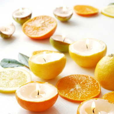 DIY Quick & Easy Citrus Candles