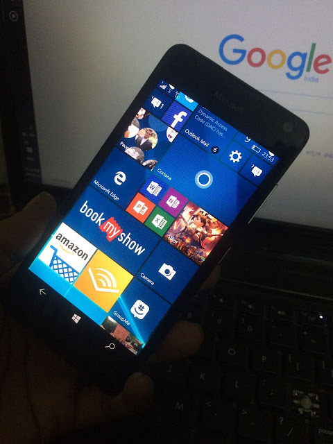 Lumia 650 running on Windows 10 Mobile