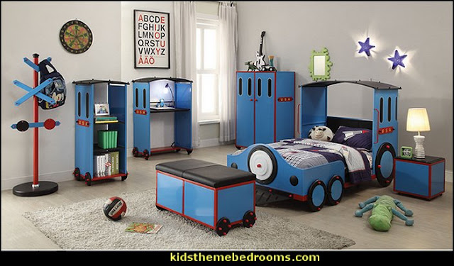 Train Theme furniture  Train themed bedroom decorating ideas - boys bedroom train theme decor - train themed beds - train themed furniture - train theme bedding - train theme decorations - Thomas the tank bedroom - Thomas the tank theme bed