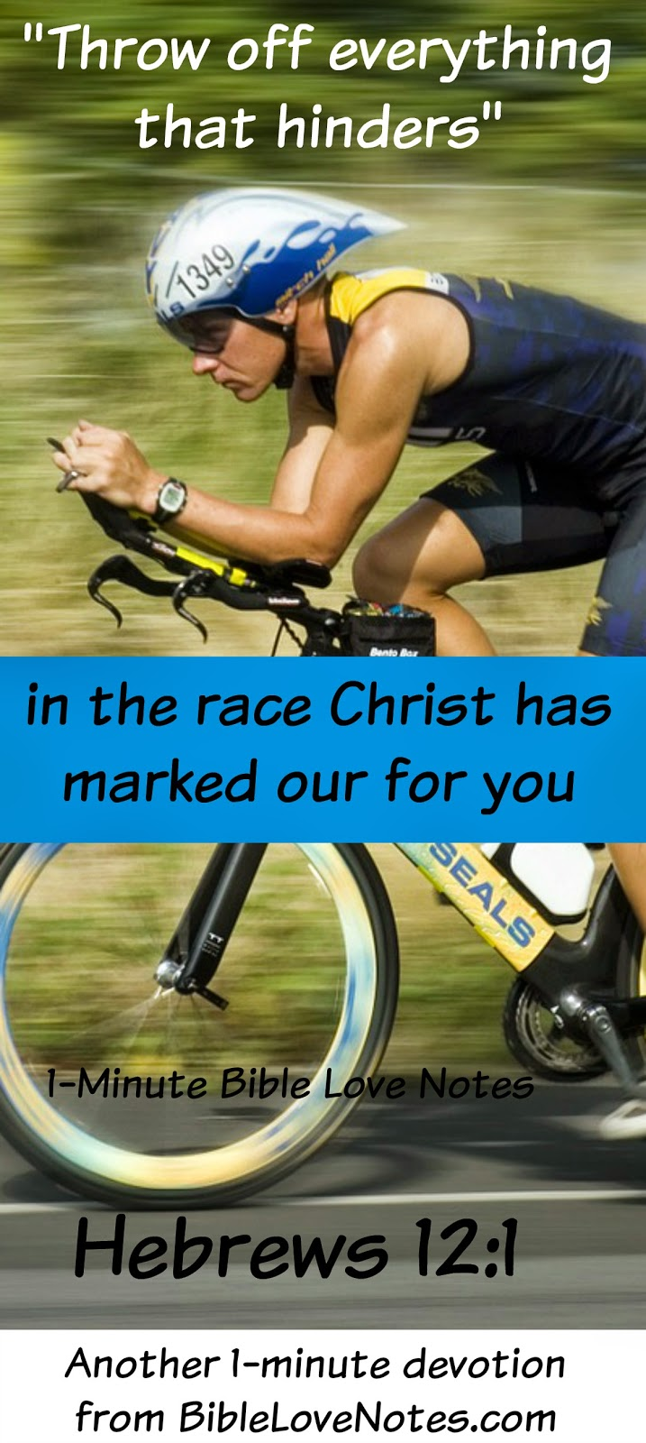 Hebrews 12:1, Running the Race, Getting rid of dead weight, atheletic gear