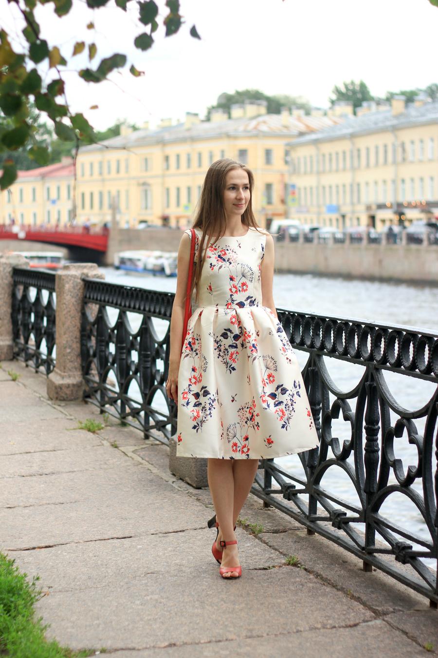 RoseGal floral vintage dress Санкт-Петербург цветочное платье kate&stuff