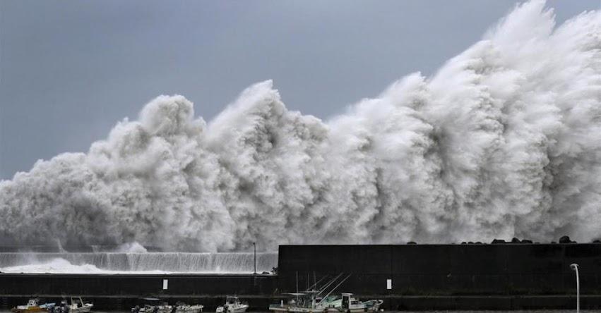 Poderoso tifón Jebi, el más fuerte en 25 años golpea a Japón
