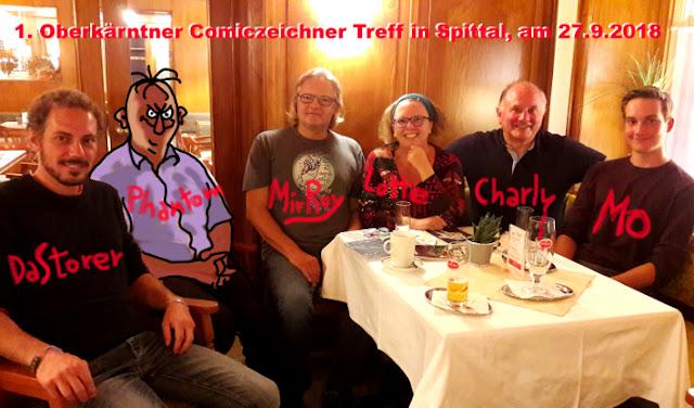 Comiczeichner Stammtisch in Kärnten, Österreich
