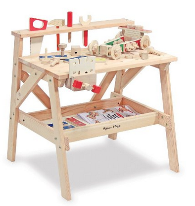 Melissa and Doug wooden work bench for kids age 3 - 7.