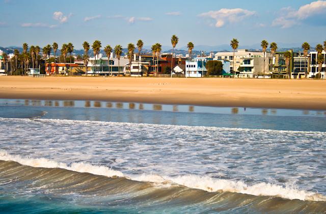 Praia de Venice Beach em Los Angeles