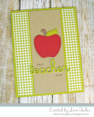 Best Teacher Ever card-designed by Lori Tecler/Inking Aloud-stamps and dies from Lil' Inker Designs