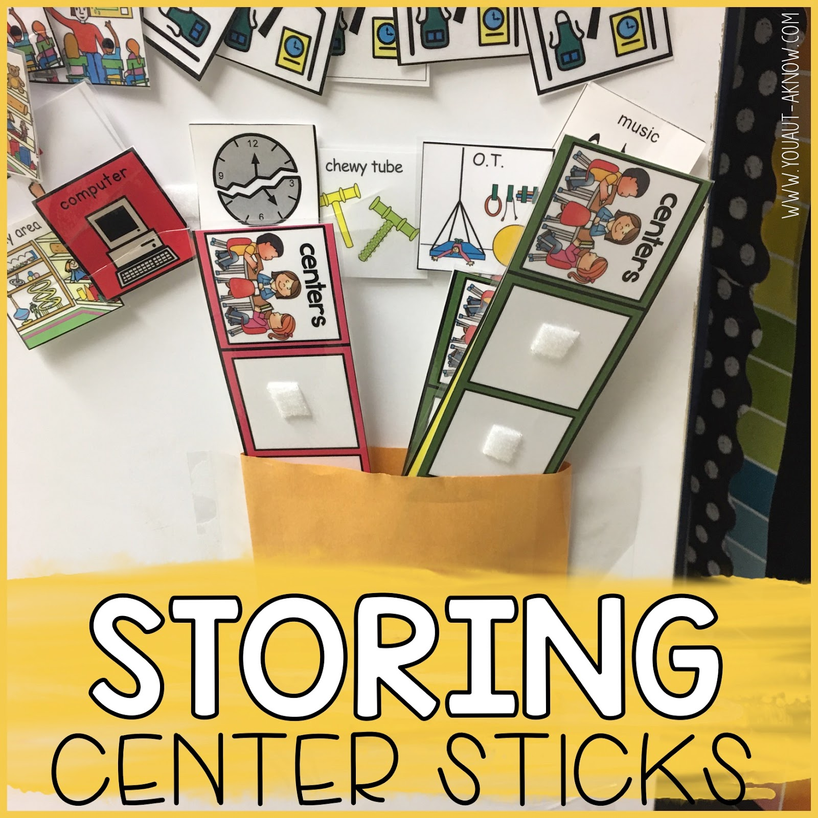 Transitioning to a portable schedule in the special education classroom is a breeze when you use this transitional step. It teaches them to transition around the room with an item. Check out how I take this step in my Autism classroom.