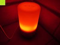 Licht rot: Aiho 50ml USB Auto Aroma Diffuser Mini AD-P3 Aromatherapie Ätherische Öl Ultraschall Luftbefeuchter Humidifier