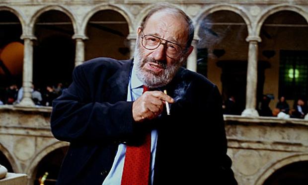 Umberto Eco y el fin de una época. Umberto Eco en la Universidad de Bolonia. Fuente: The Guardian.