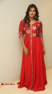 Actress Heba Patel Latest Stills in Red Dress at Mister Movie Trailer Launch Event  0036.jpg