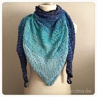 Tuch Einhorn gehäkelt, crochet unicon shawl