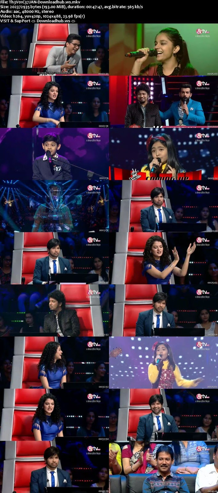 The Voice India Kids 2 07 January 2018 Episode 18 HDTV 480p