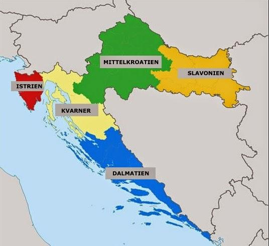 kroatien karte regionen Kroatien Landkarte Regionen kroatien karte regionen