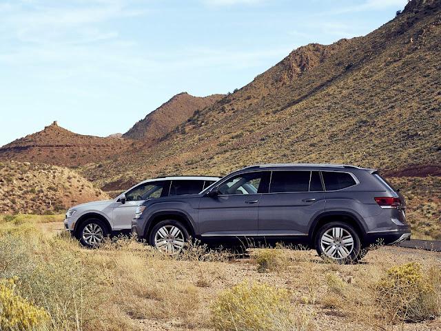 VW Atlas e Tiguan terão versões de cinco lugares nos EUA