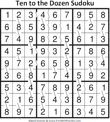 Answer of Ten to the Dozen Sudoku Puzzle (Fun With Sudoku #343)