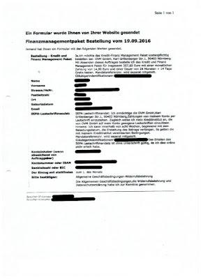 Bestellbestätigung OVM Online Vertrieb Marketing GmbH